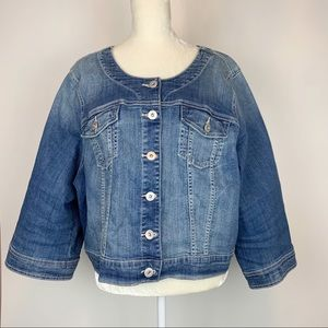 Torrid Denim Jean Jacket Women's Size 4X